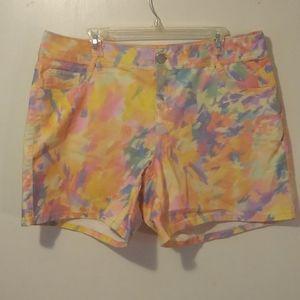 Lane Bryant Pastel Tye Dye Shorts